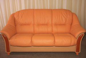 Перетяжка кожаного дивана